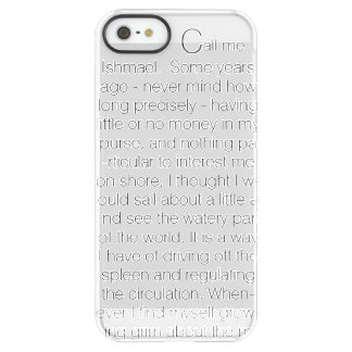 The Whale Text Permafrost® iPhone SE/5/5s Case