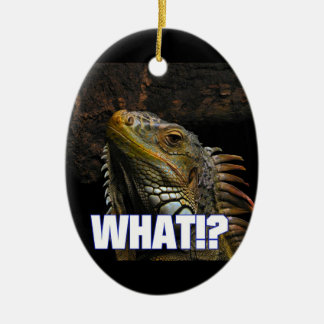 The What!? Iguana Ceramic Ornament