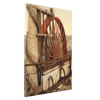 The Wheel Laxey Isle of Man England Stretched Canvas Print