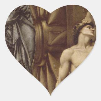The Wheel of Fortune by Edward Burne-Jones Heart Sticker