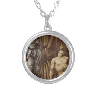 The Wheel of Fortune by Edward Burne-Jones Round Pendant Necklace