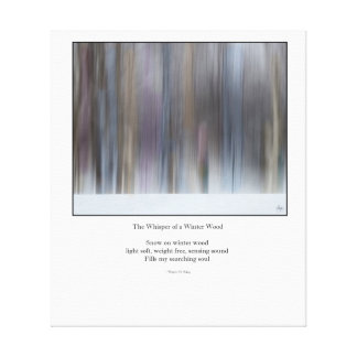 The Whisper of a Winter Wood Haiku Redux  Canvas Canvas Print