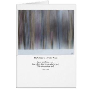 The Whisper of a Winter Wood Haiku Redux Card
