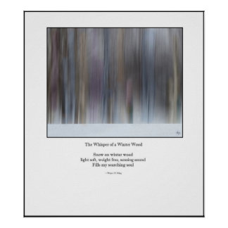 The Whisper of a Winter Wood Haiku Redux Poster