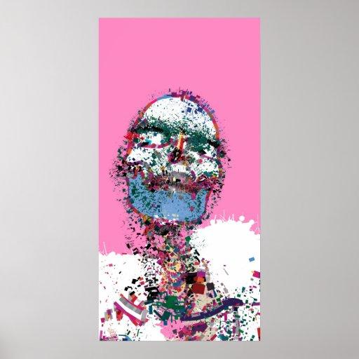 The white boa portrait print