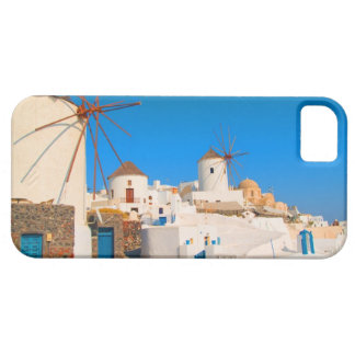 The white buildings and the windmills on the iPhone 5 covers