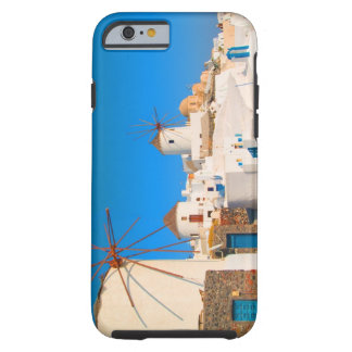 The white buildings and the windmills on the tough iPhone 6 case