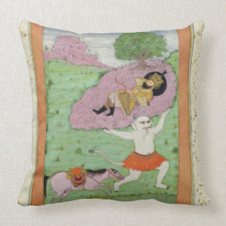 The White Demon carrying off the sleeping Rustam, Cushion