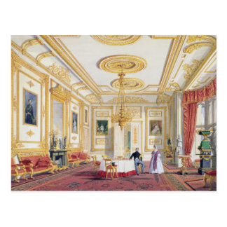 The White Drawing Room at Windsor Castle (colour l Postcard