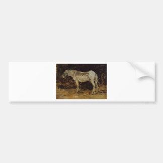 The White Horse by Eugene Boudin Bumper Sticker
