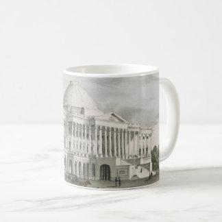 The White House, Capitol at Washington Lithograph Coffee Mug