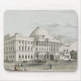 The White House, Capitol at Washington Lithograph Mouse Pad