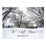 The White House on a snowy day, Washington DC