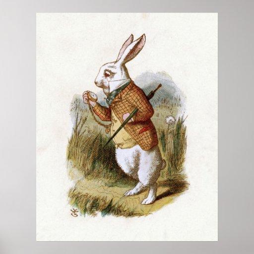 The White Rabbit - Alice in Wonderland Poster