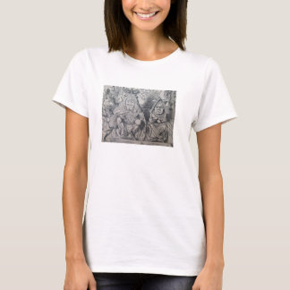 The White Rabbit, and King and Queen of Hearts T-Shirt