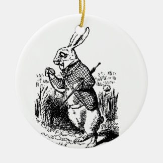 The White Rabbit and Pocket Watch Ornaments