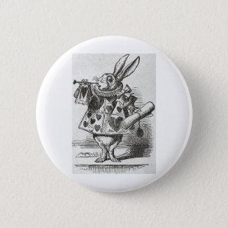 The White Rabbit from Alice in Wonderland 6 Cm Round Badge
