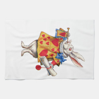 The White Rabbit From Alice in Wonderland Tea Towel