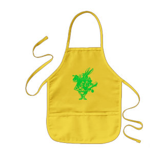 The White Rabbit in Blue Kids Apron