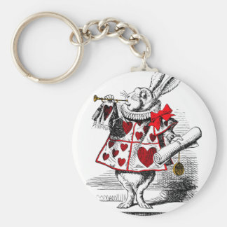 The White Rabbit Basic Round Button Key Ring