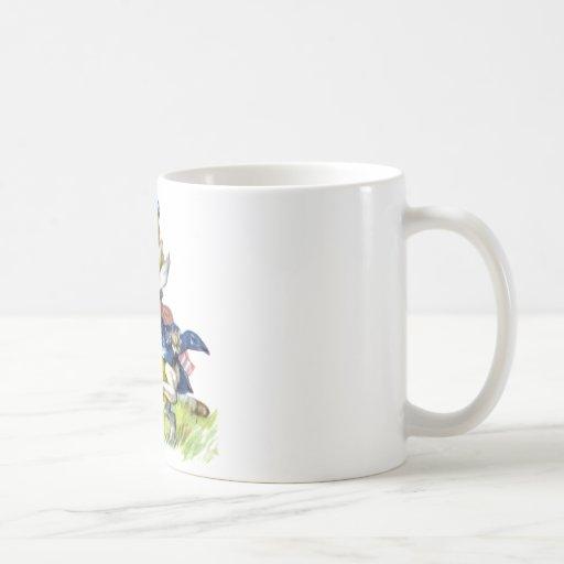 The white rabbit races by Alice Coffee Mug