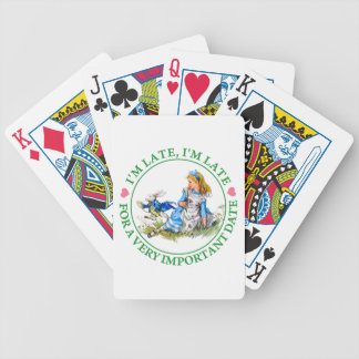 The White Rabbit Rushes By Alice In Wonderland Bicycle Poker Deck