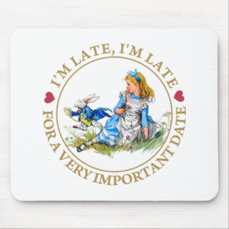 The White Rabbit Rushes By Alice In Wonderland Mouse Pad