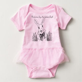 The White Rabbit, The Hurrier I Go Baby Bodysuit
