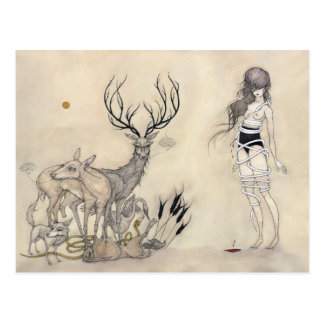 The White Snake + Vanitas - Postcard