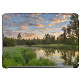 The Whitefish River with nice sunrise clouds