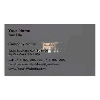 The Whitehouse At Night Business Card