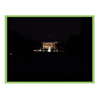The Whitehouse At Night Postcard