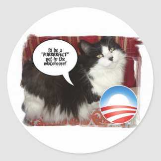 The Whitehouse Pet Kitty Cat Stickers