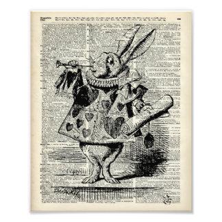 The Whitte rabbit Photo Print