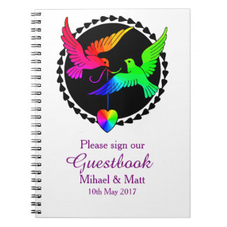 The Whole of the Rainbow Gay Wedding Guestbook Notebook