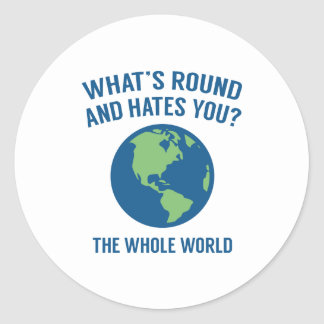 The Whole World Classic Round Sticker