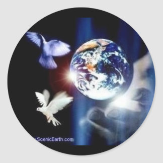 The Whole World in His Hands God and Earth Sticker