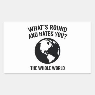 The Whole World Rectangular Sticker
