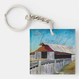 The Whoolshed Single-Sided Square Acrylic Key Ring