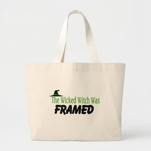 The Wicked Witch Was Framed Canvas Bag