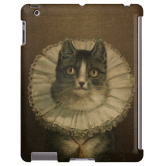 The Widow antique vintage cat painting kitten
