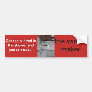 the widow maker bumper sticker