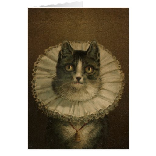 """""""The Widow"""" vintage card for cat lovers"""