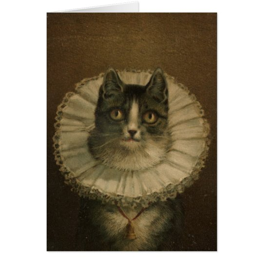 """The Widow"" vintage card for cat lovers"