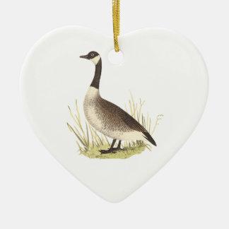 The Wild Goose(Anser canadensis) Ceramic Ornament