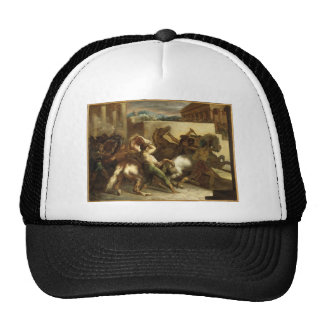 The Wild Horse Race at Rome by Theodore Gericault Cap