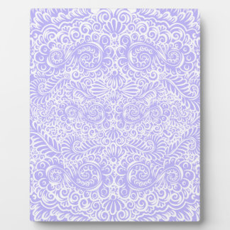 The wild lilac floral vines plaque