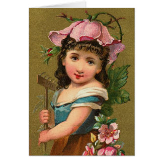 The Wild Rose Flower Nature Fairy Card