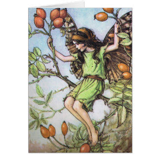 The Wild Rose Hip Fairy - Customized Card
