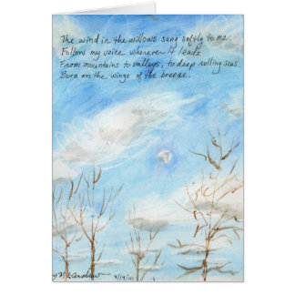 """""""The Wind in the Willows"""" verse on Painting+inside Card"""